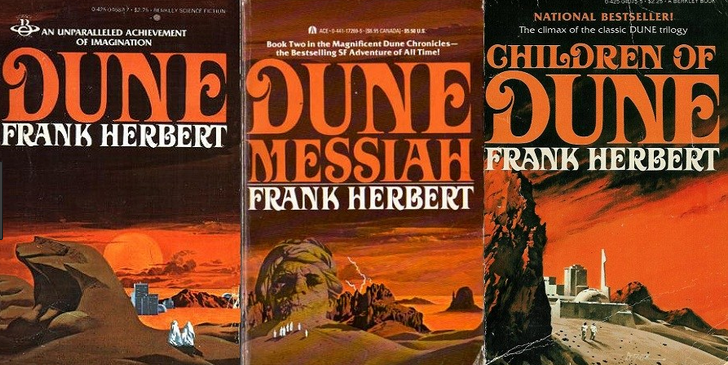 Dune trilogy covers
